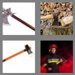 4 pics 1 word 3 letters axe