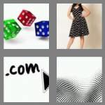 4 pics 1 word 3 letters dot