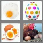4 pics 1 word 3 letters egg