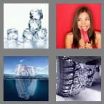4 pics 1 word 3 letters ice