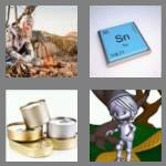 4 pics 1 word 3 letters tin