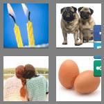 4 pics 1 word 3 letters two