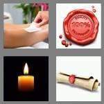 4 pics 1 word 3 letters wax