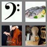 4 pics 1 word 4 letters bass