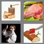 4 pics 1 word 4 letters chop