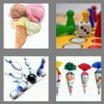 4 pics 1 word 4 letters cone