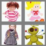 4 pics 1 word 4 letters doll
