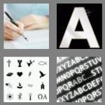4 pics 1 word 4 letters font