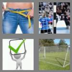 4 pics 1 word 4 letters goal