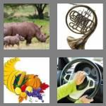 4 pics 1 word 4 letters horn