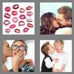 4 pics 1 word 4 letters kiss