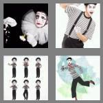 4 pics 1 word 4 letters mime