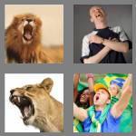 4 pics 1 word 4 letters roar