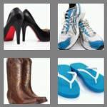 4 pics 1 word 4 letters shoe