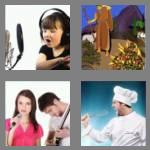 4 pics 1 word 4 letters sing