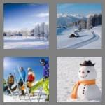 4 pics 1 word 4 letters snow
