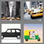 4 pics 1 word 4 letters taxi