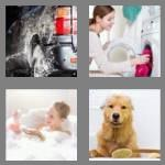 4 pics 1 word 4 letters wash