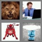 4 pics 1 word 5 letters angry