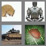 4 pics 1 word 5 letters armor