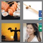 4 pics 1 word 5 letters asian