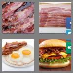 4 pics 1 word 5 letters bacon