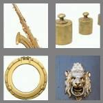 4 pics 1 word 5 letters brass