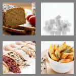 4 pics 1 word 5 letters carbs