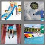4 pics 1 word 5 letters chute