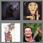 4 pics 1 word 5 letters crone