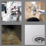 4 pics 1 word 5 letters drain