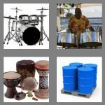 4 pics 1 word 5 letters drums