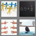 4 pics 1 word 5 letters equal
