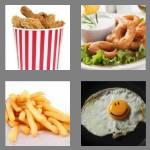 4 pics 1 word 5 letters fried