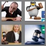 4 pics 1 word 5 letters gavel
