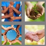 4 pics 1 word 5 letters hands