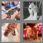 4 pics 1 word 5 letters henna