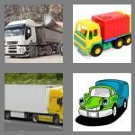 4 pics 1 word 5 letters lorry