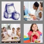 4 pics 1 word 5 letters lunch