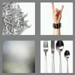4 pics 1 word 5 letters metal