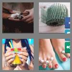 4 pics 1 word 5 letters nails