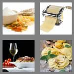 4 pics 1 word 5 letters pasta