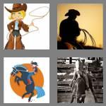 4 pics 1 word 5 letters rodeo