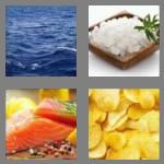 4 pics 1 word 5 letters salty