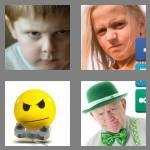 4 pics 1 word 5 letters scowl