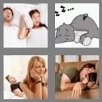 4 pics 1 word 5 letters snore