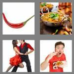 4 pics 1 word 5 letters spicy