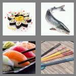 4 pics 1 word 5 letters sushi