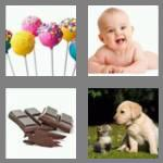 4 pics 1 word 5 letters sweet