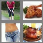 4 pics 1 word 5 letters thigh
